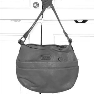 Rosetti Macy's putty grey cross body purse